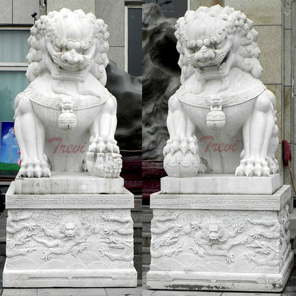 Factory Guardian foo dog statues pair artwork for driveway TMA-97