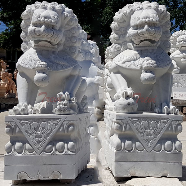 Forbidden city guardian lion feng shui foo dogs placement for home