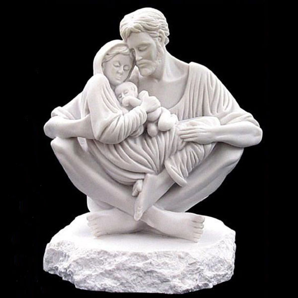 Holy family marble statue a quiet moment replica for sale