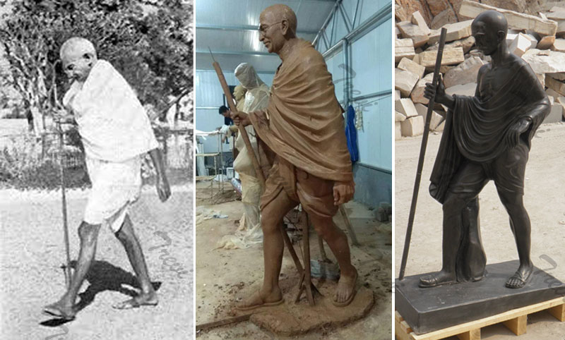 How do you custom make a india superhero stone statues of gandhi