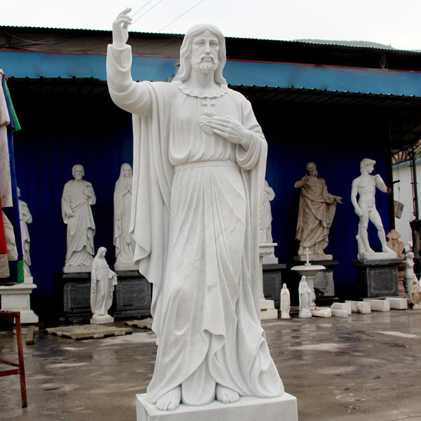 Life size sacred heart of jesus christ sculpture factory directly supply