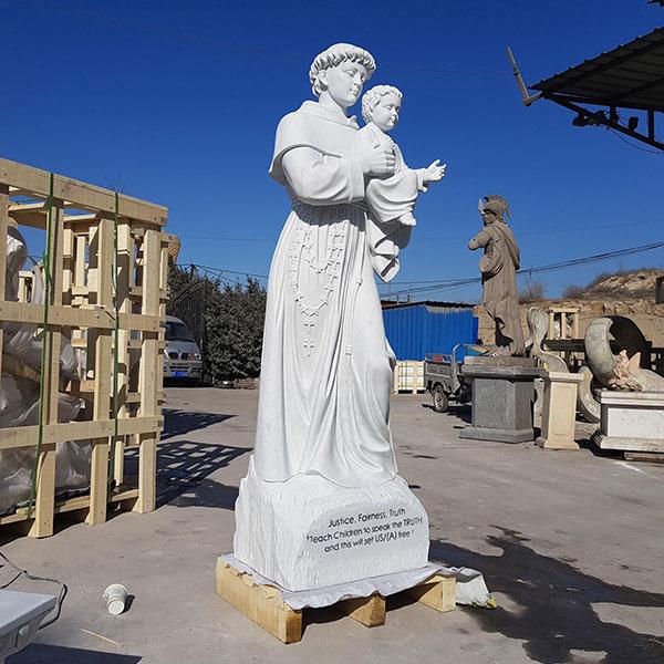 Life size saint Anthony catholic saint statue for church outdoor garden designs