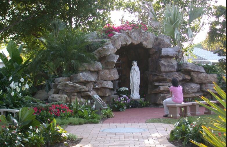 Our lady of Lourdes blessed mother catholic garden statues for sale