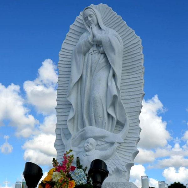 Our lady of guadalupe outdoor catholic marble statues for sale TCH-116