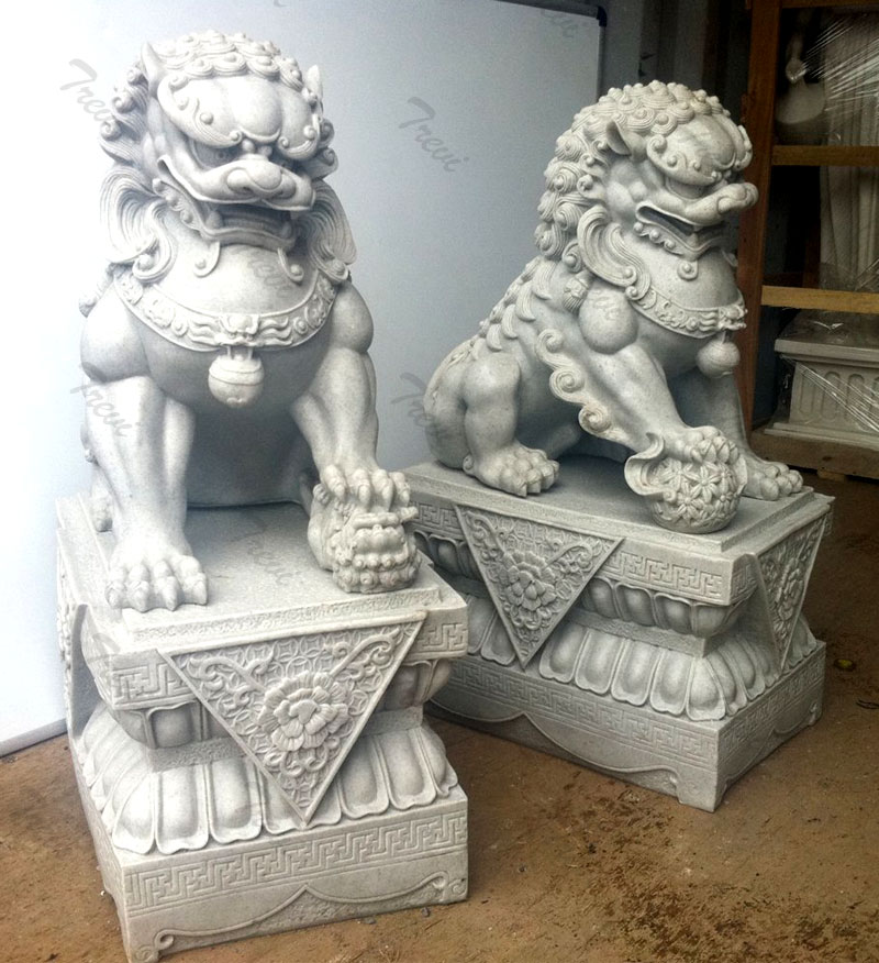 Outdoor decor guaridan fu dogs pairs in front of porch sale