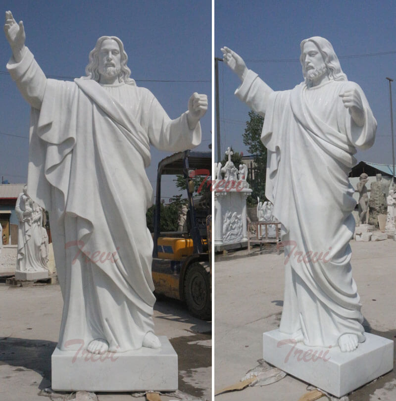 Religious-garden-marble-statues-of-large-christ-Jesus-for-catholic-church-decor details