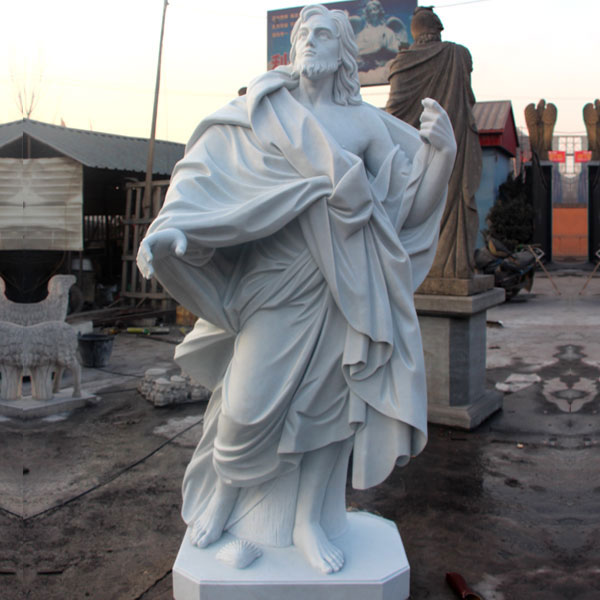 White marble Saint James statues for catholic church