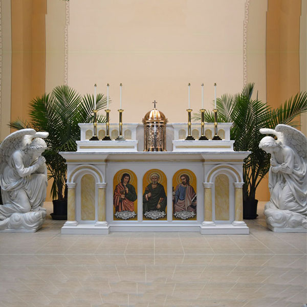 Why is Stone (Marble) best material to made of church altar?