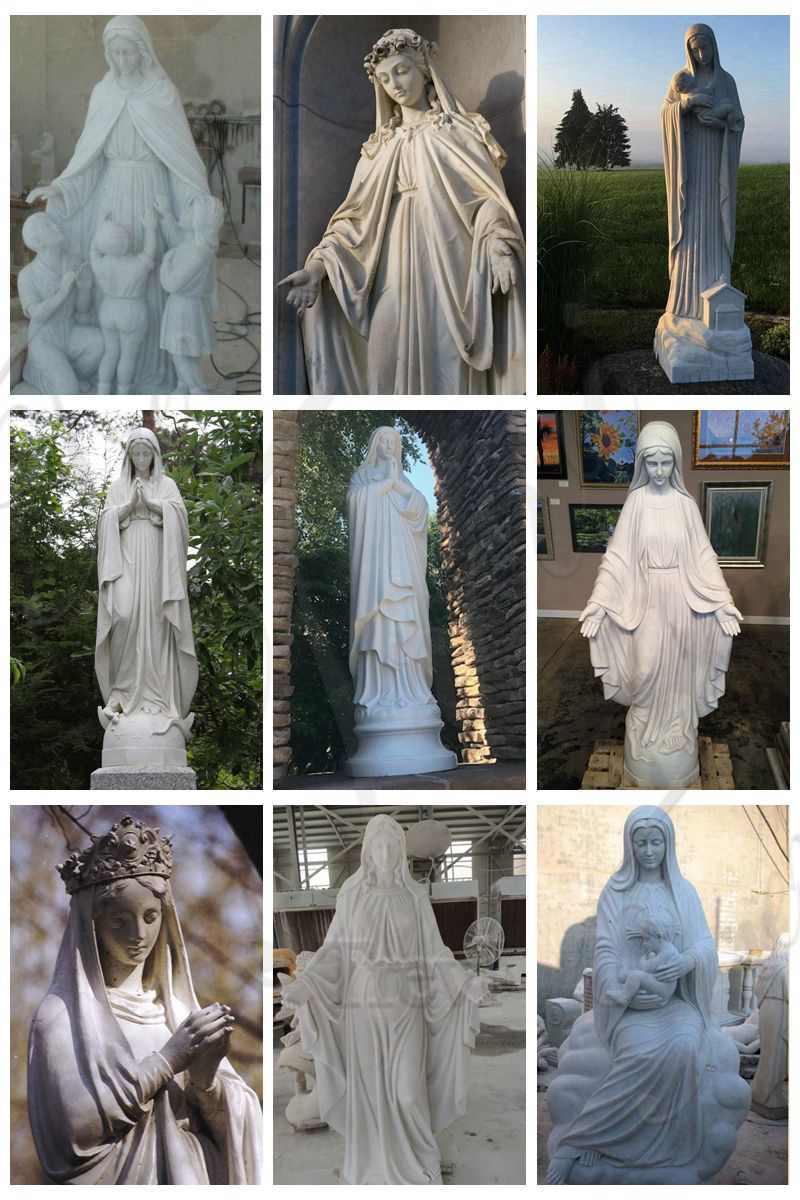 catholic marble outdoor statues lady of Fatima