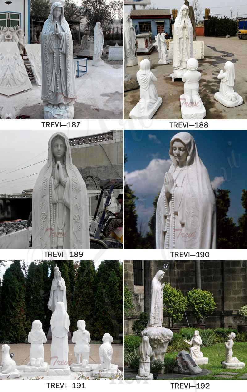 our lady of Lourdes blessed virgin mary marble statues