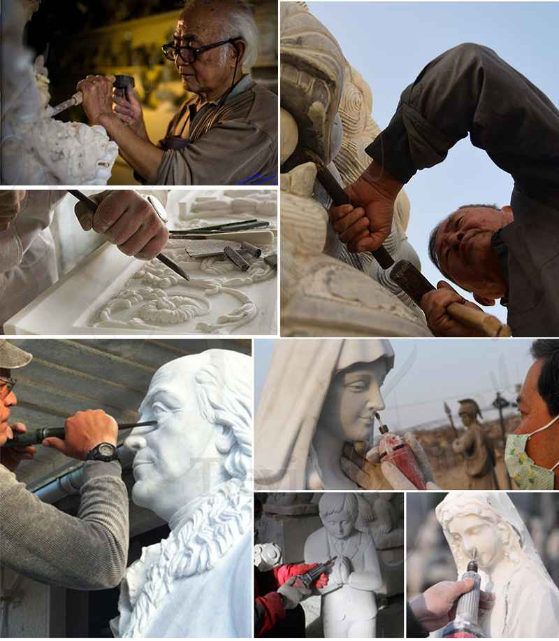 process of Marble Our lady of Lourdes statue