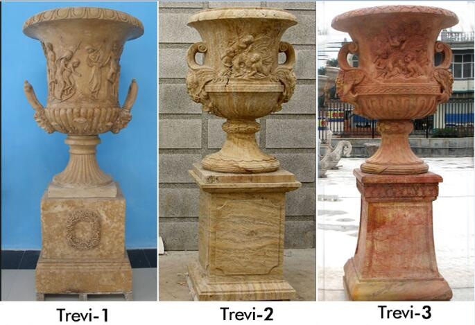 Antique marble large vase planters pots for yard decor designs
