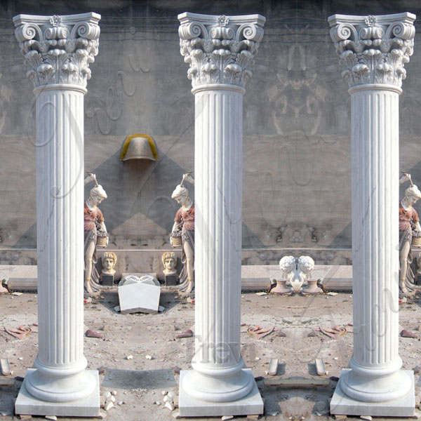 Architectural white marble decorative corinthian columns for sale TMC-02