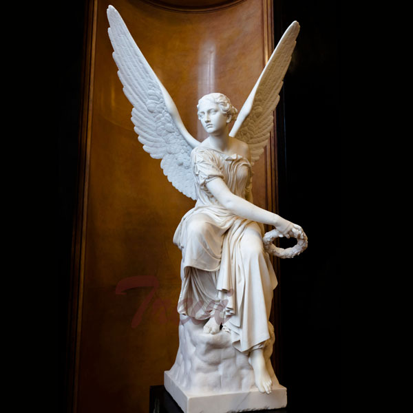 Life Size Angel Holding Flower Ring Garden Statue Bernini replica TMC-38