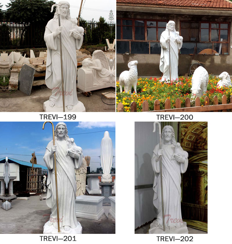 Catholic religious garden statues of shepherd Jesus for sale.jpg