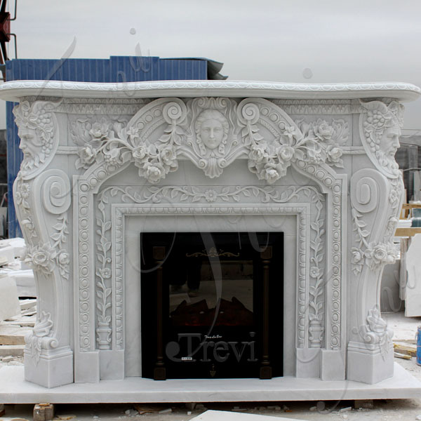 Contemporary home depot white marble fireplace mental surround for sale