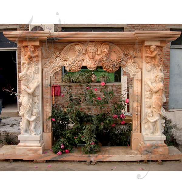 Craftsman style antique stone decorative fireplace mantels for sale online TMFP-08