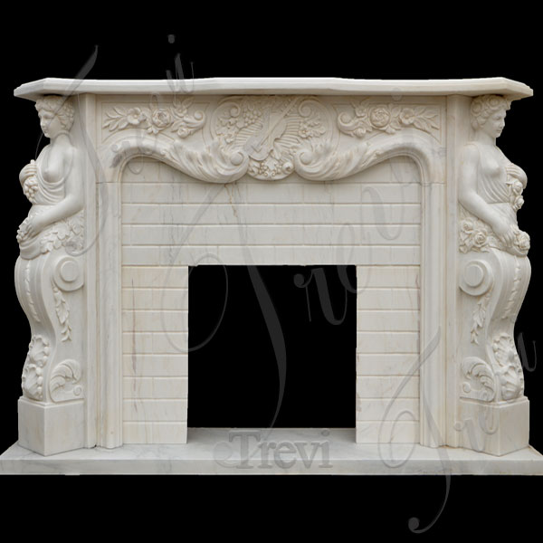 Decorating large french style fireplace mantels shelf for sale TMFP-14
