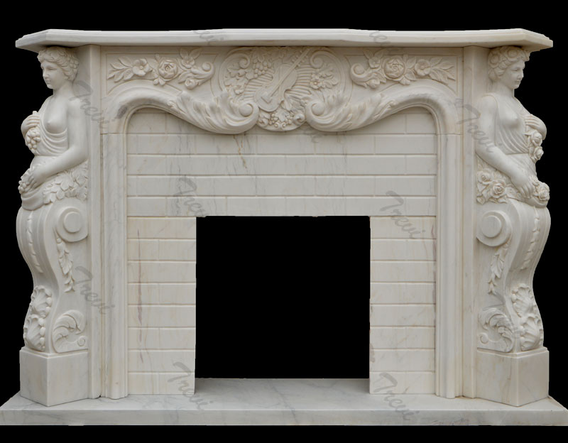 Decorating large french style white marble fireplace mantels ideas
