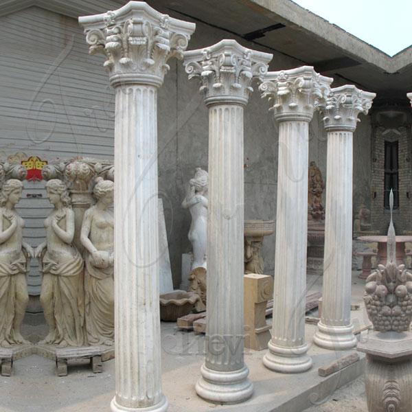 Decorative architectural marble corinthian columns home depot TMC-03