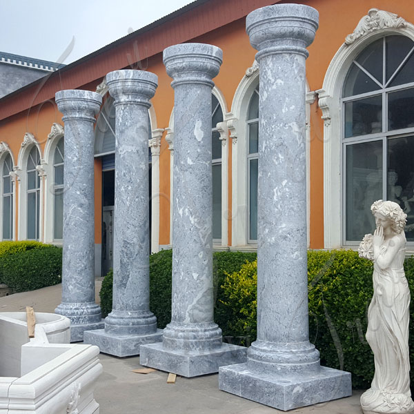 Decorative interior large marble square pillars and columns costs TMC-05