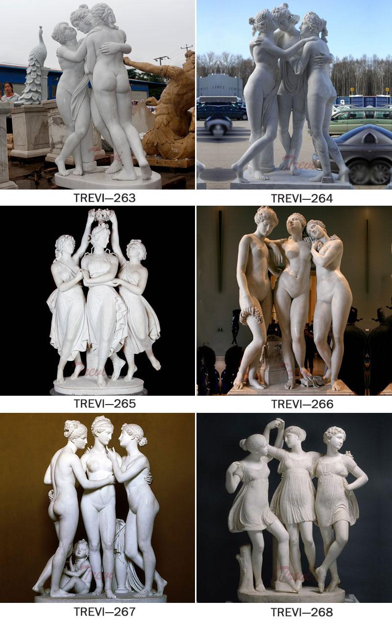 Famous marble statue group of the three graces antonio canova replica designs