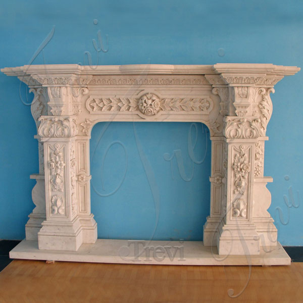 Home depot white marble fireplace mantel shelf designs near me TMFP-17