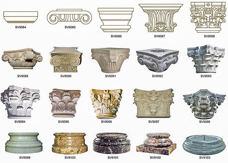 Marble-capital of columns and pillars