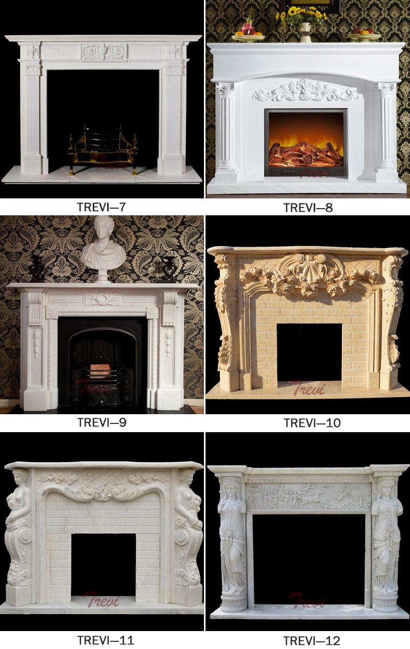Modern firepace mental shelf designs