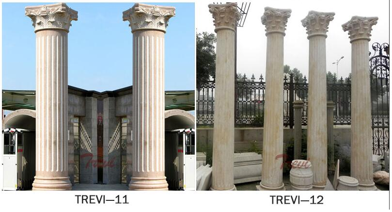 Modern large round support architectural columns for porch