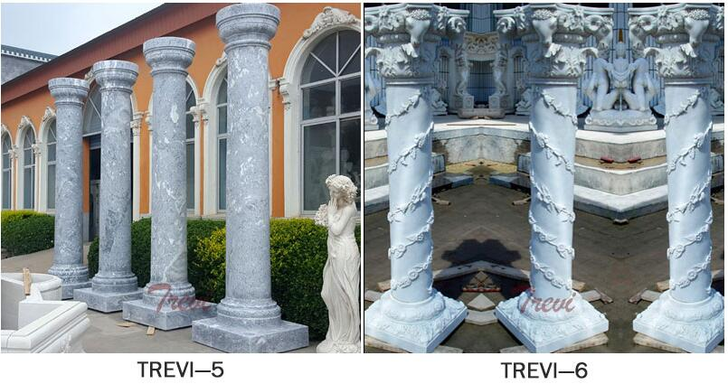 Outdoor decorative white marble corinthian columns for wdding decor