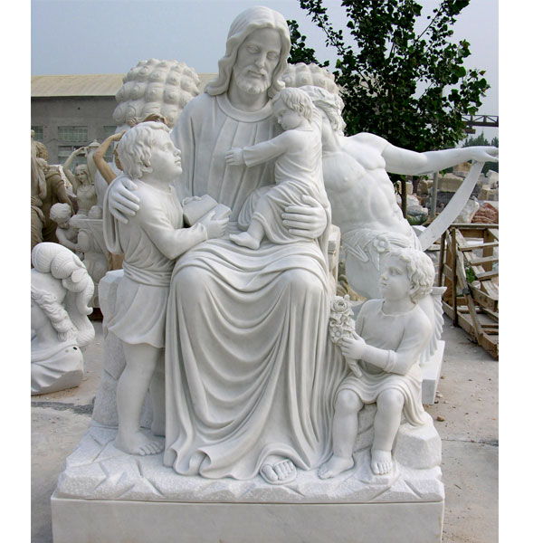 Outdoor large caholic statues of jesus christ with children garden designs onlne sale TCH-13