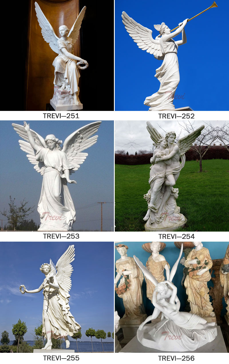 Outdoor marble angel garden statues designs