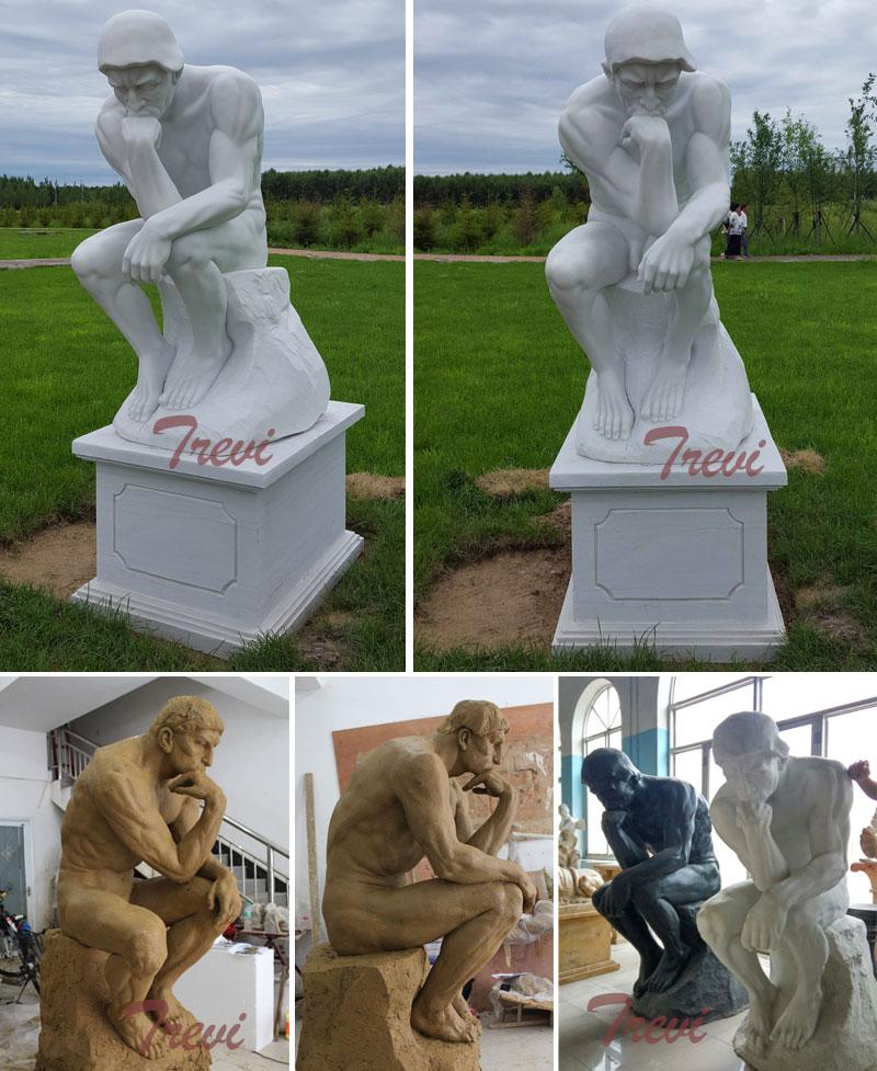 The thinker garden statue rodin replica designs for sale