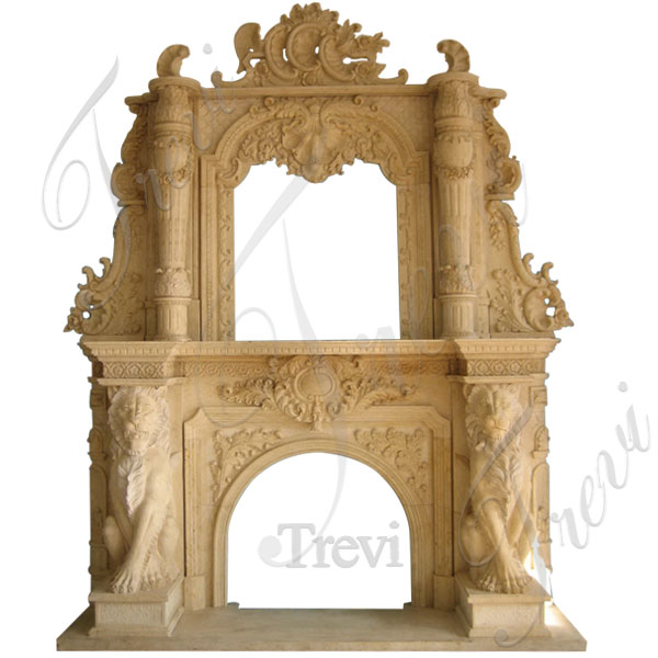 Victorian antique marble fireplace with overmantle home depot for sale TMFP-18