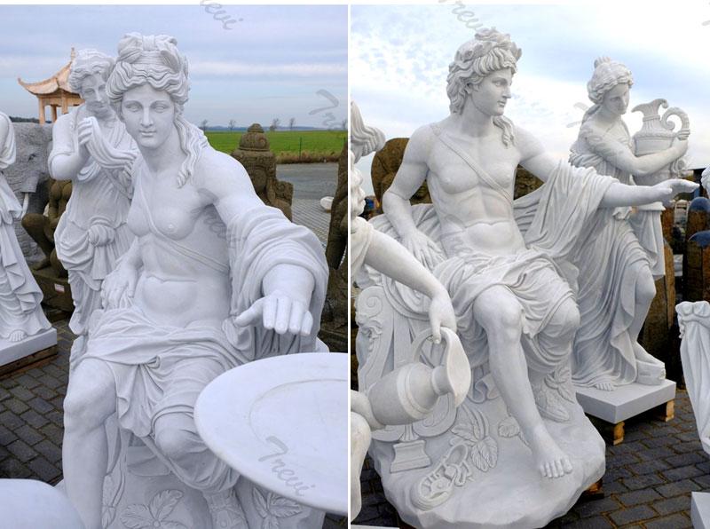 garden Apollo bath group sculpture replica outside