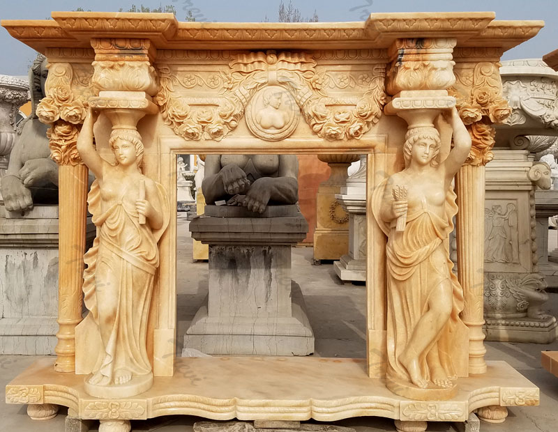 luxury craftsman style carved antique stone fireplace mentels surrounds design for fall decor
