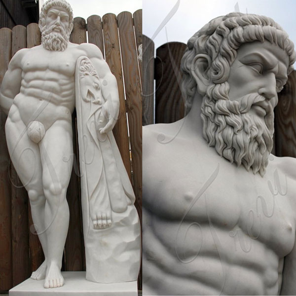 outdoor marble Hercules statue replica garden for sale TMC-36