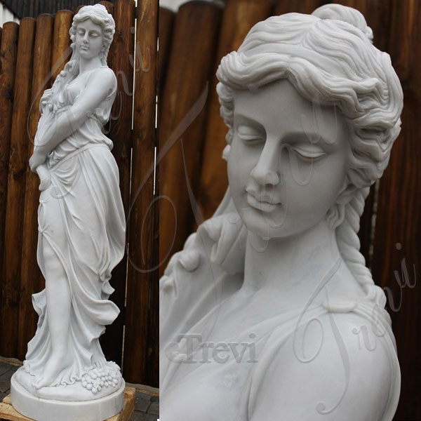 Beautiful greek female nude garden statues outdoor for sale TMC-45