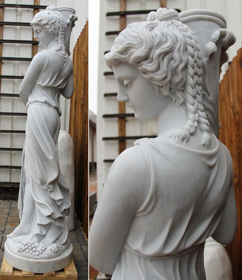 Beautiful greek female nude garden statues outdoor ornaments for sale