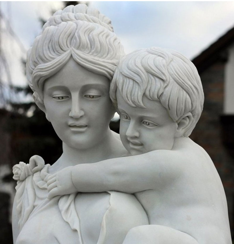 Beautiful life size mother and child garden statue outdoor lawn ornament