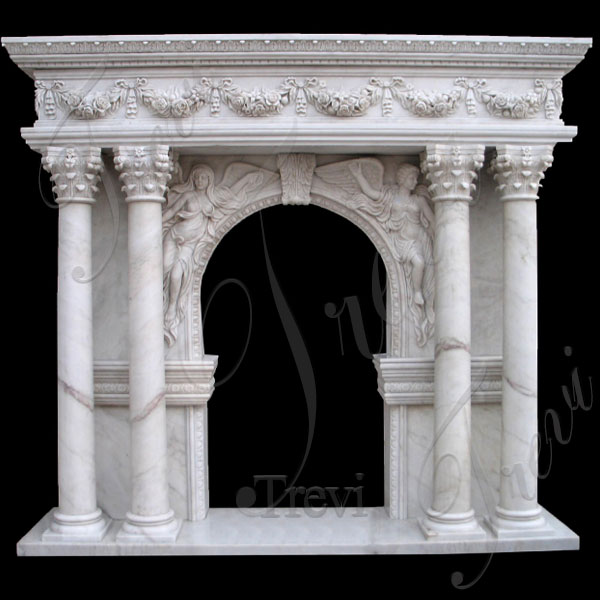 Contemporary fireplace mantels shelf with columns ideas for sale TMFP-20