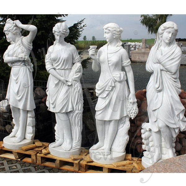 Famous white marble garden statues four season goddess set for sale TMC-46