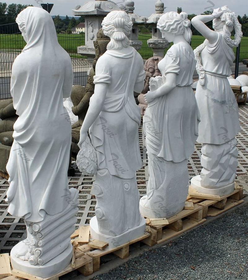 Famous white marble garden statues life size four season goddess set for sale