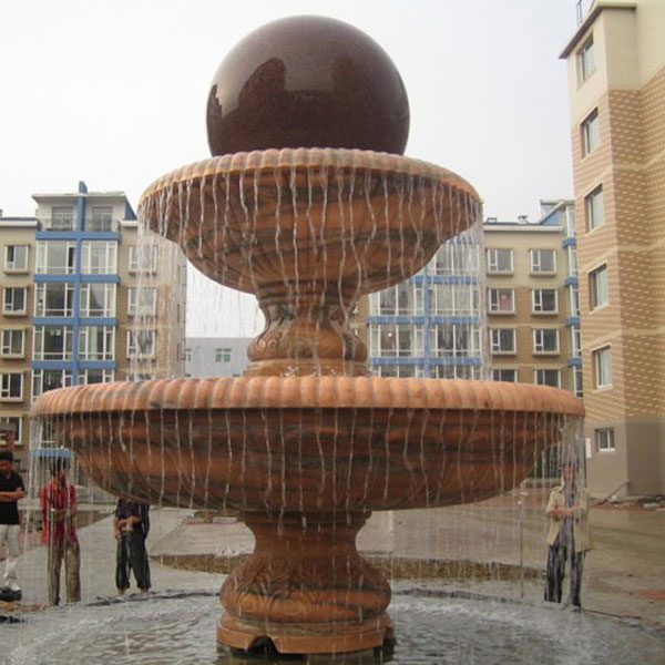 Large granite sphere water fountains for the garden