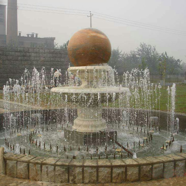 Large Outdoor Granite Kugel Ball Fountain for Sale MOKK-182