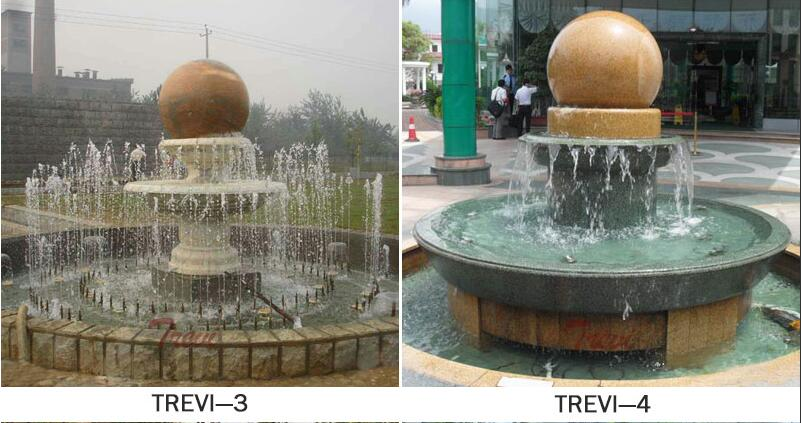 Large outdoor granite sphere water fountains for the garden