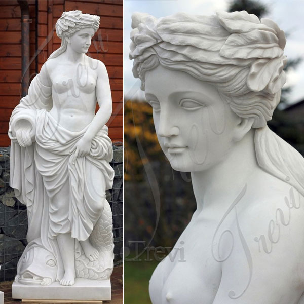 Life size nude girl hold jar outdoor statues for lawn ornaments designs TMC-52