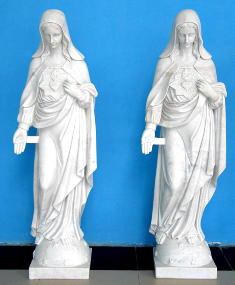 Our lady immaculate heart of mary outdoor garden statues for sale
