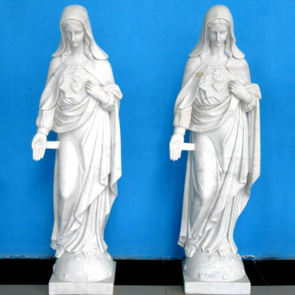 Our lady immaculate heart of mary statues fatima catholic religious outdoor garden sculpture to buy online TCH-224